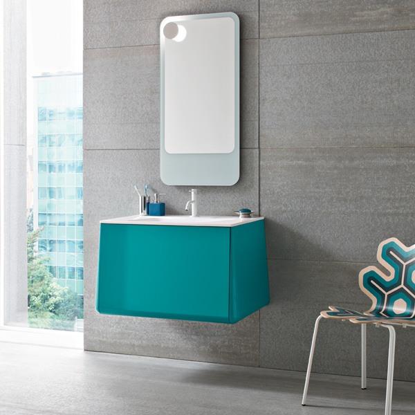 Meuble salle de bain Campus turquoise