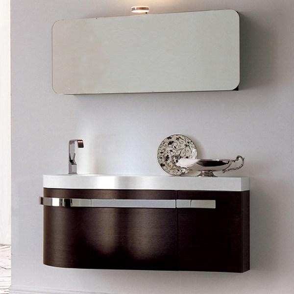 meuble de salle de bain birex - versa chêne foncé 120x36 compo10