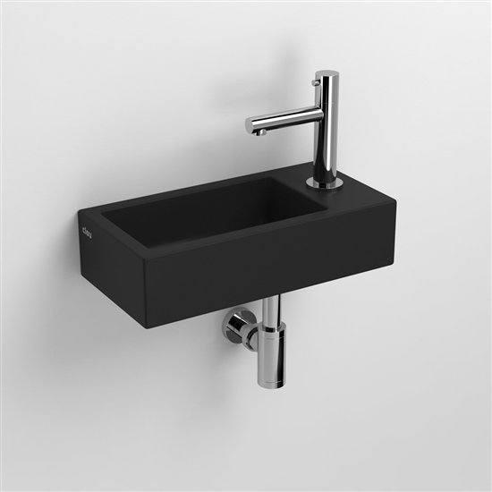 flush lave mains finition c ramique noir mat. Black Bedroom Furniture Sets. Home Design Ideas
