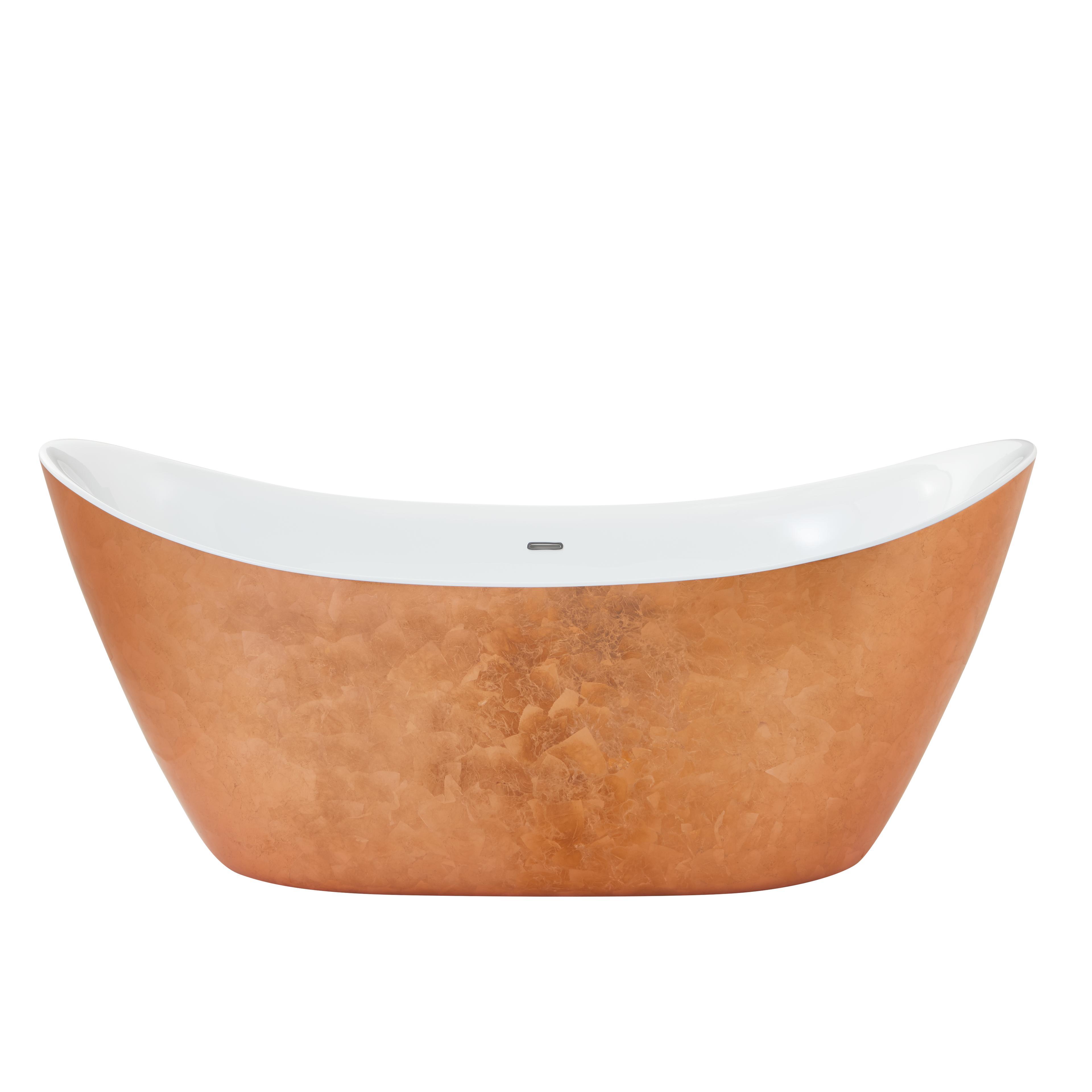 hylton baignoire acrylique en lot effet cuivre heritage. Black Bedroom Furniture Sets. Home Design Ideas