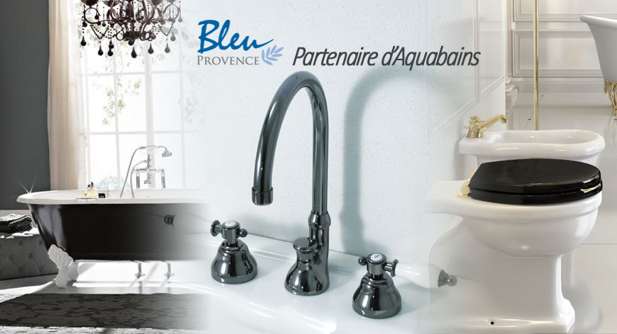 bleu provence baignoire en fonte meuble de salle de bain et robinetterie. Black Bedroom Furniture Sets. Home Design Ideas