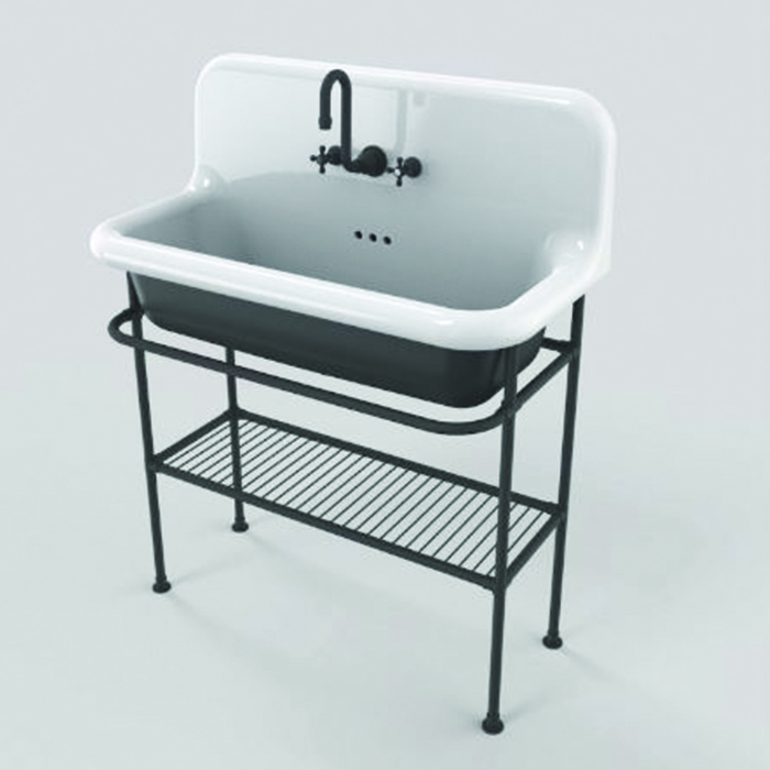 lavabo r tro suspendue de 90cm bleu provence. Black Bedroom Furniture Sets. Home Design Ideas