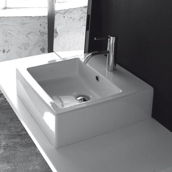lavabo moderne semi encastr bp033 bleu provence. Black Bedroom Furniture Sets. Home Design Ideas