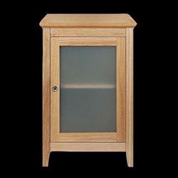 Meuble Esteem avec une porte en bois/verre pour salle de bain - Imperial