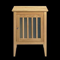 Meuble en bois/verre dépoli pour salle de bain - Imperial