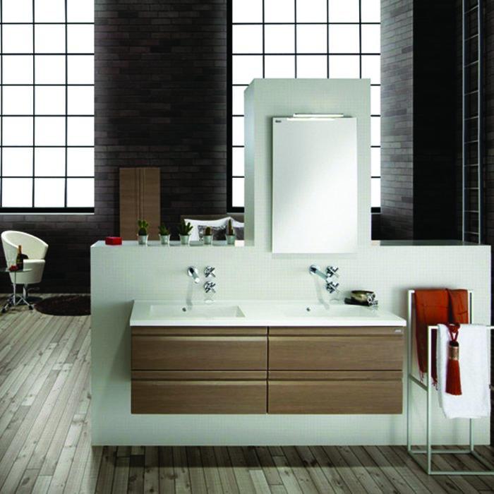 Ensemble de meuble de salle de bain solco 2 140cm 70x2 for Ensemble meuble salle de bain 70 cm