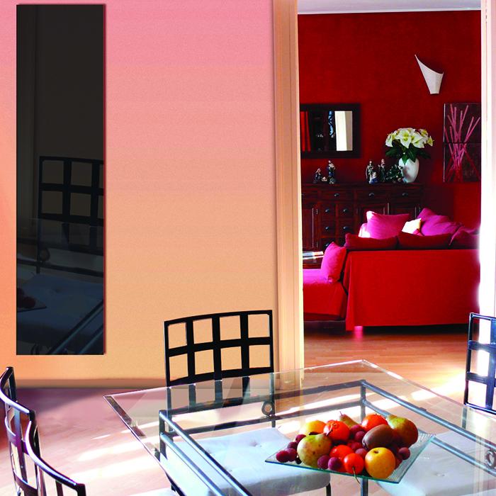 radiateur verre tremp cosy art electrique noir 1200w. Black Bedroom Furniture Sets. Home Design Ideas