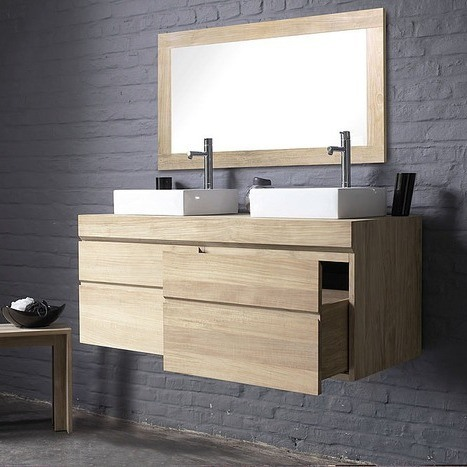meuble de salle de bain urban deux tiroirs. Black Bedroom Furniture Sets. Home Design Ideas