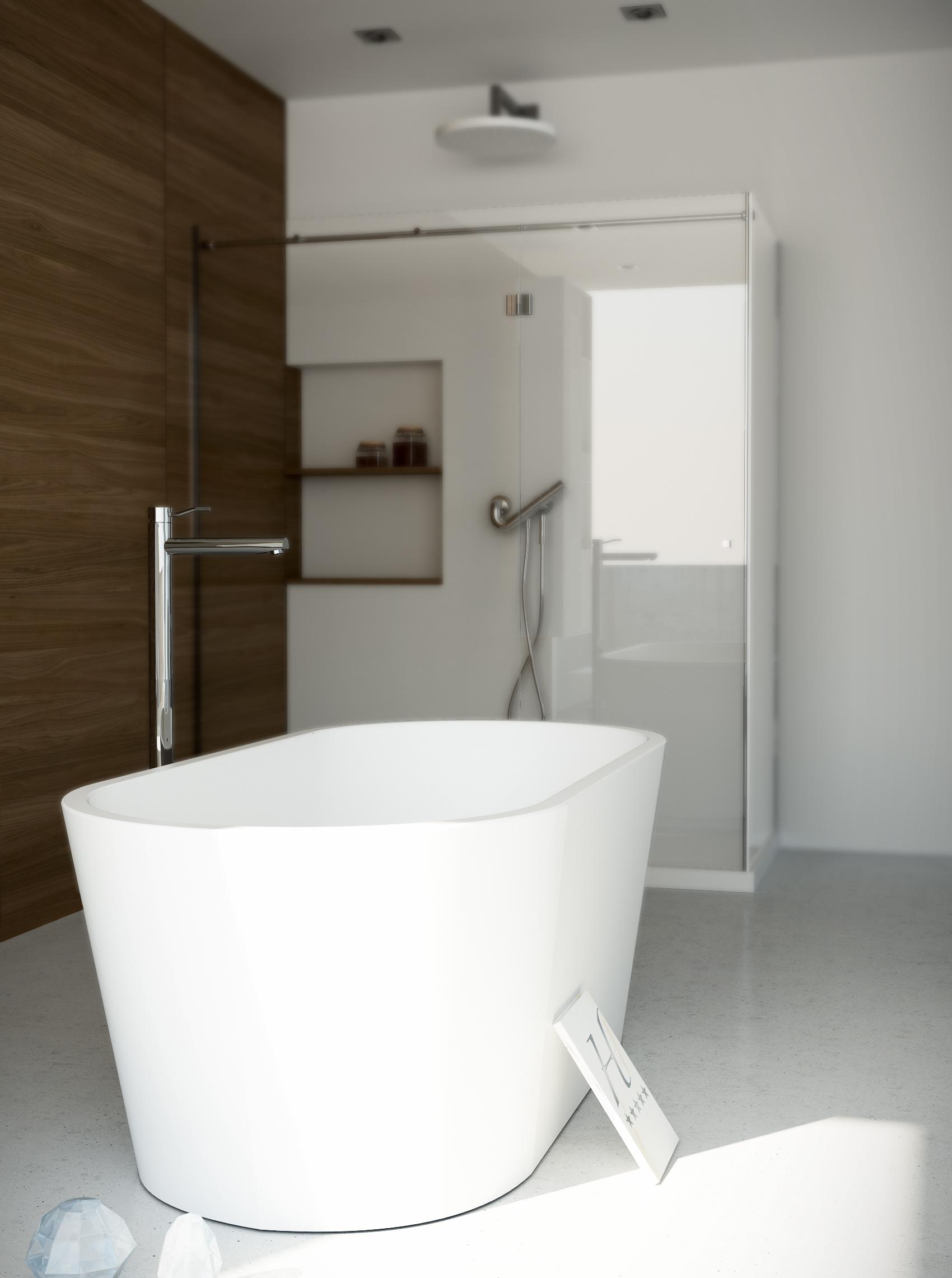 Baignoire design Diamond tub170 White Stonage®