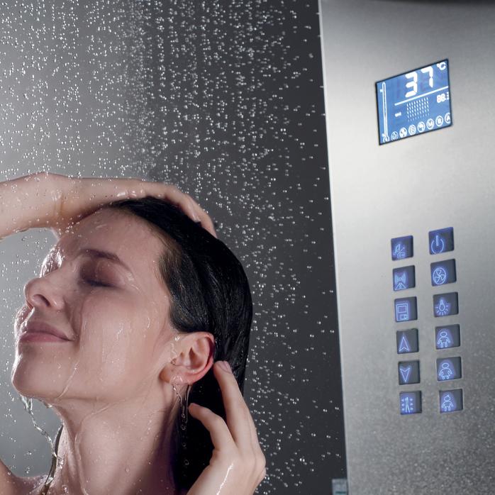 colonne de douche avec led et radio