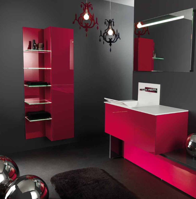 Collection X & Y, Ambiance Bain Fuschia Amarena